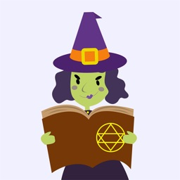 Animated Evil Green Witch Stickers Pack