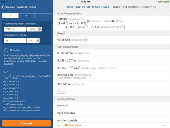 Wolfram Mechanics of Materials Course Assistant-ipad-3