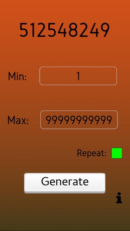 Random Number Generator - RNG screenshot-3