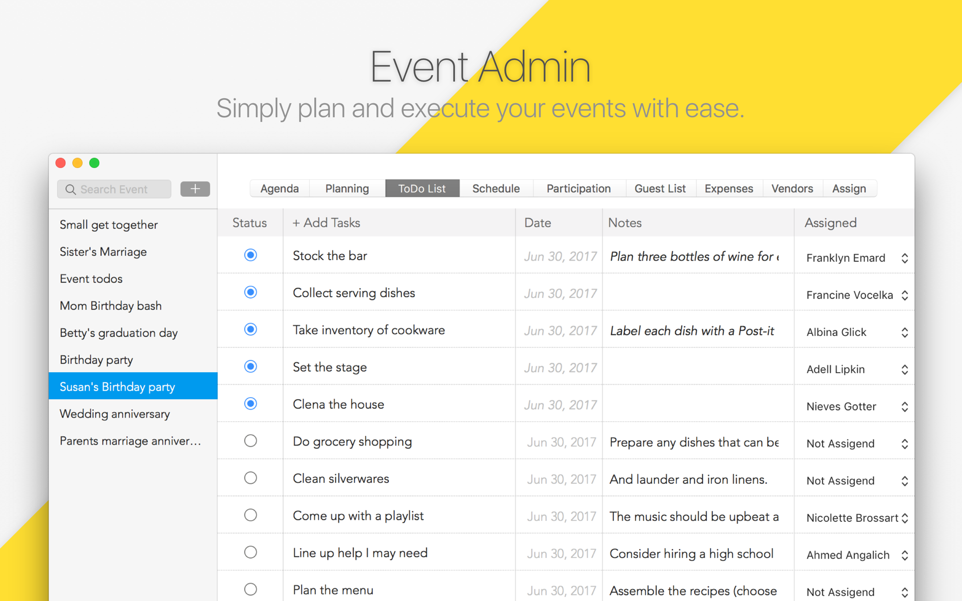 Event Admin