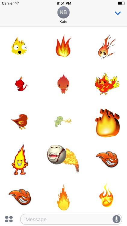 Burn Stickers