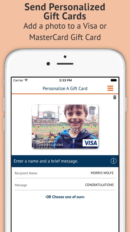 Buy Personalized Gift Cards
