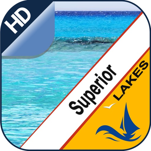 Superior Lake GPS offline nautical boaters chart