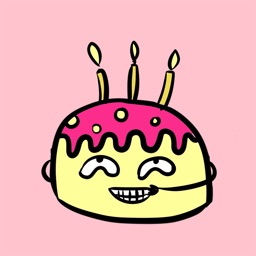 I Love Weird Birthday Cake Animated Stickers