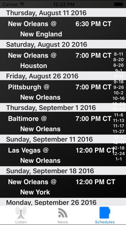 New Orleans Football - Radio, Scores & Schedule screenshot-3