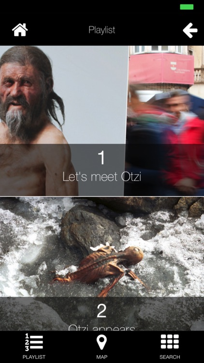 Multimedia audio guide Ötzi