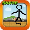 Tiny Stick-Man Skate-Boarding Awsome Pixel Game