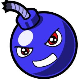 Geometry Bomb, shoot explosive blue balls