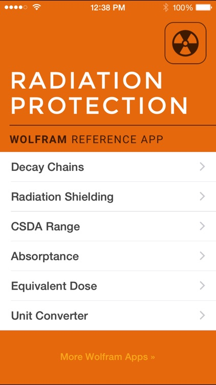 Wolfram Radiation Protection Reference App