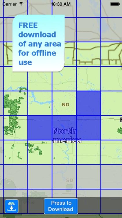Aqua Map North Dakota ND Lakes HD- Nautical Charts screenshot-4