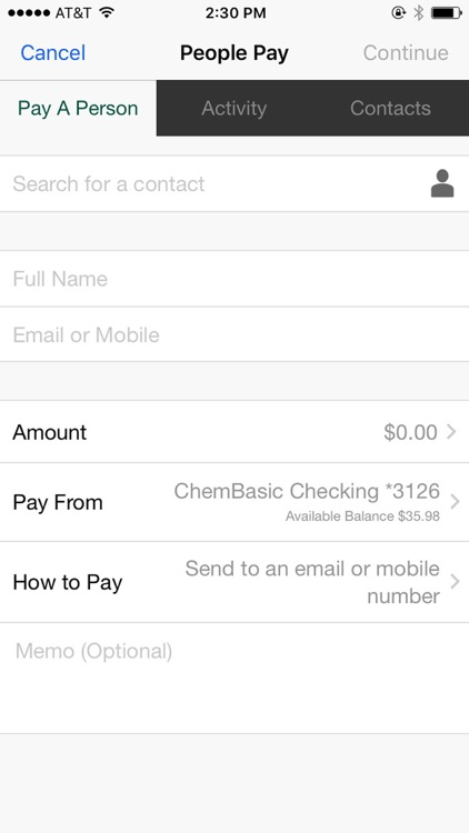 Chem Bank Mobile screenshot-3