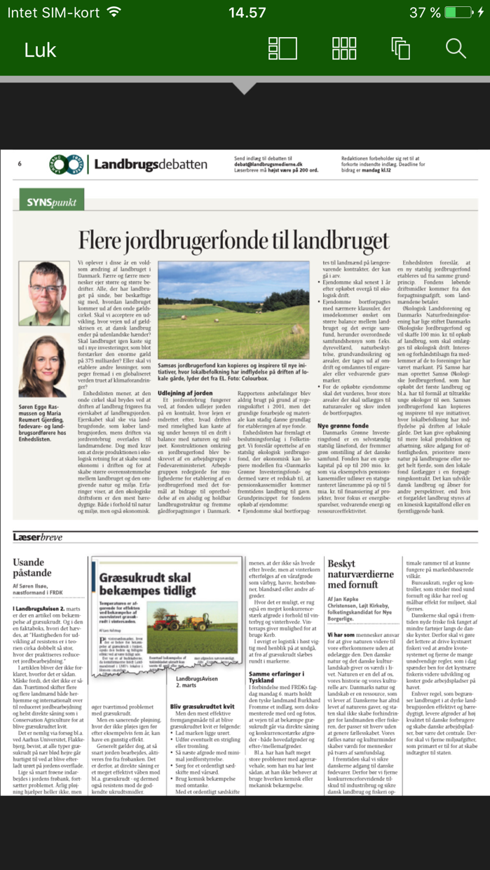 LandbrugsAvisen Screenshot
