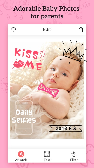 Baby Photos – Add Text, Caption&Sticker to Picture screenshot one