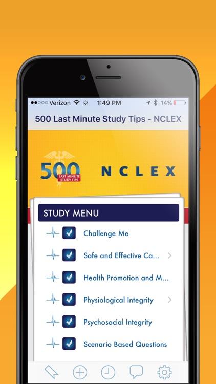500 Last Minute Study Tips - NCLEX
