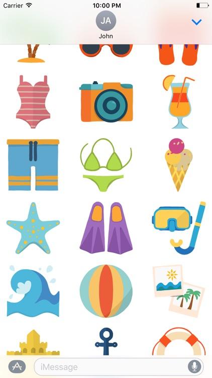 Summer Beach Holiday - Fun Vacation Stickers