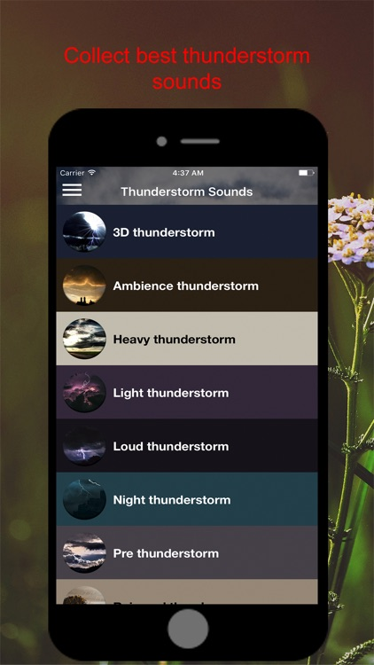 Sound4Life Thunderstorm Sounds screenshot-0