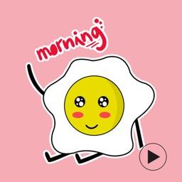 Ladies Eggy - Yummy Emoji GIF