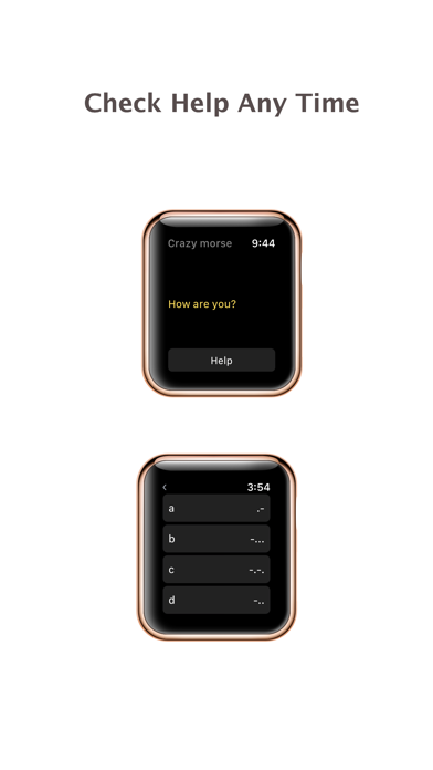 Crazy Morse Code - quick typing for apple watch screenshot three