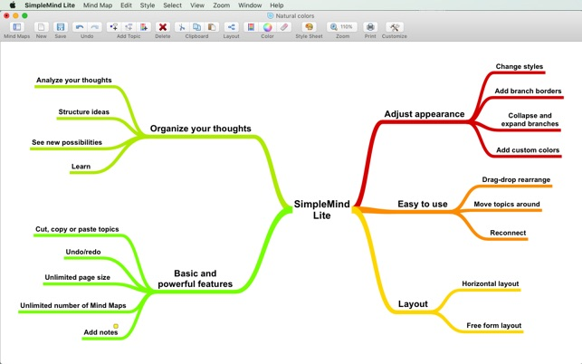 Simplemind lite mind mapping on the mac app store screenshots ccuart Choice Image