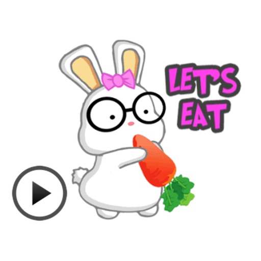 Animated Adorable Rabbit Stickers