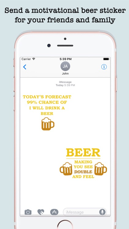 Funny Beer Quotes Stickers For iMessage screenshot-3
