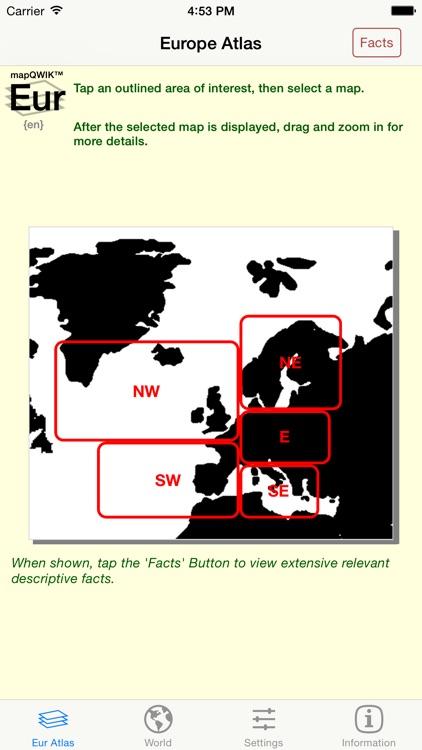 mapQWIK Eur - Europe Zoomable Atlas