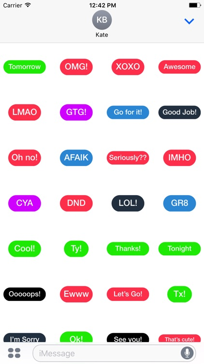 Colorful Words - daily text bubbles stickers