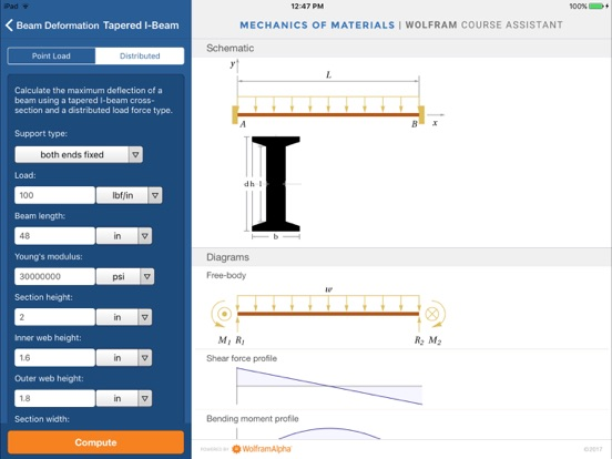 Wolfram Mechanics of Materials Course Assistant-ipad-4
