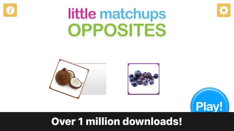 Preschool Game - Little Matchups Opposites