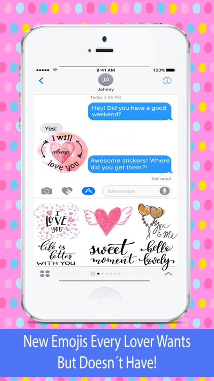 Love Emojis - Images for iMessage