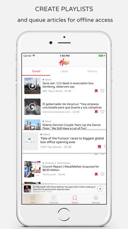 Aloud Player - Listen to the Web, News, Stories screenshot-4