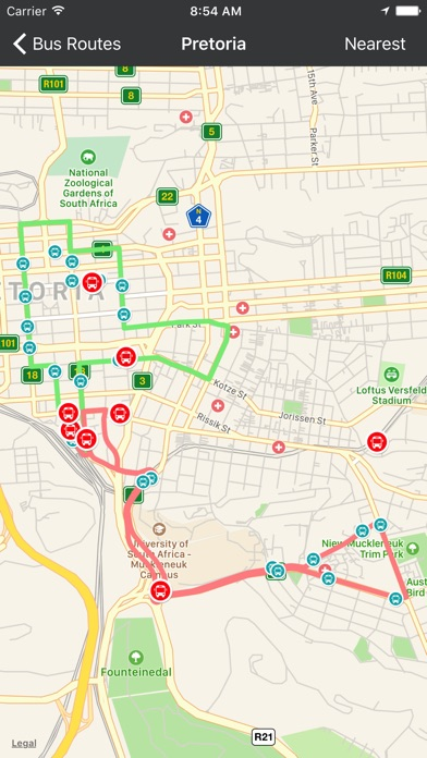 Screenshot for GTBuddy Bus Routes 4 Gautrain in South Africa App Store