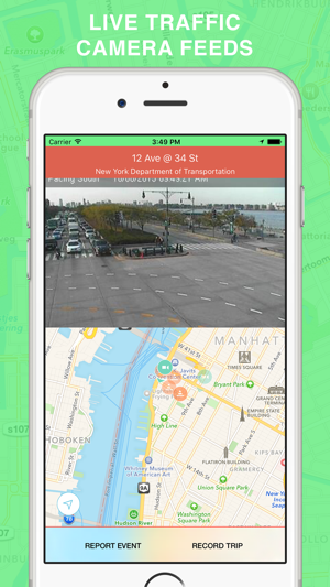 Nyc Live Traffic Map.Green Wave Traffic Cameras And Live Alerts Maps On The App Store