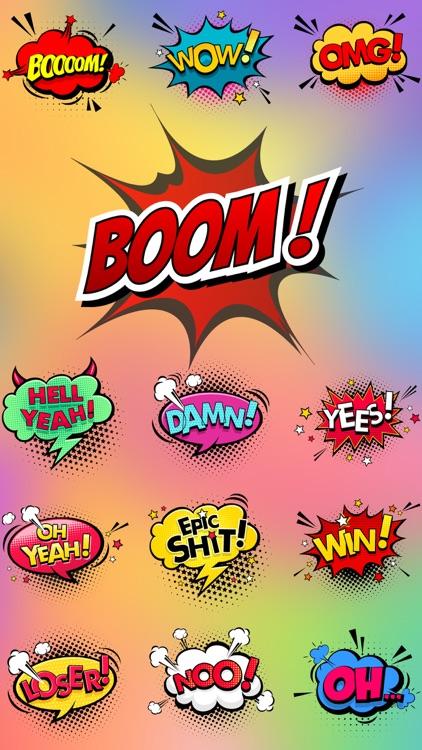 BOOM - Funny Comic Stickers