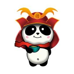 Samurai Panda - 2 stickers by CandyASS