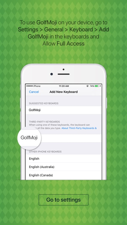 GolfMoji - golfer emojis & golf stickers keyboard screenshot-3