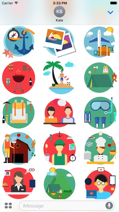 Travel - Stickers Pack for iMessage-3