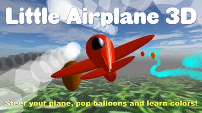 Little Airplane 3D for kids: learn numbers, colors screenshot one