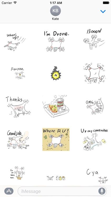 Animated Happy Drones Sticker