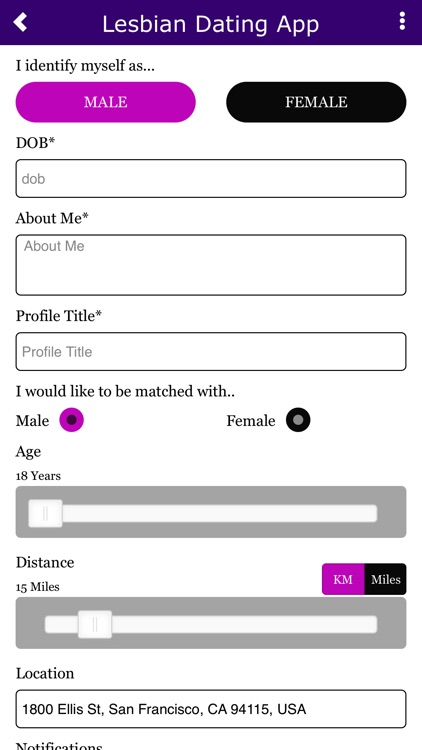 Free lesbian dating application