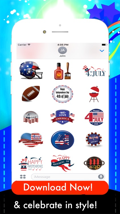 USAmoji - 4th Of July Stickers For Photos screenshot-3