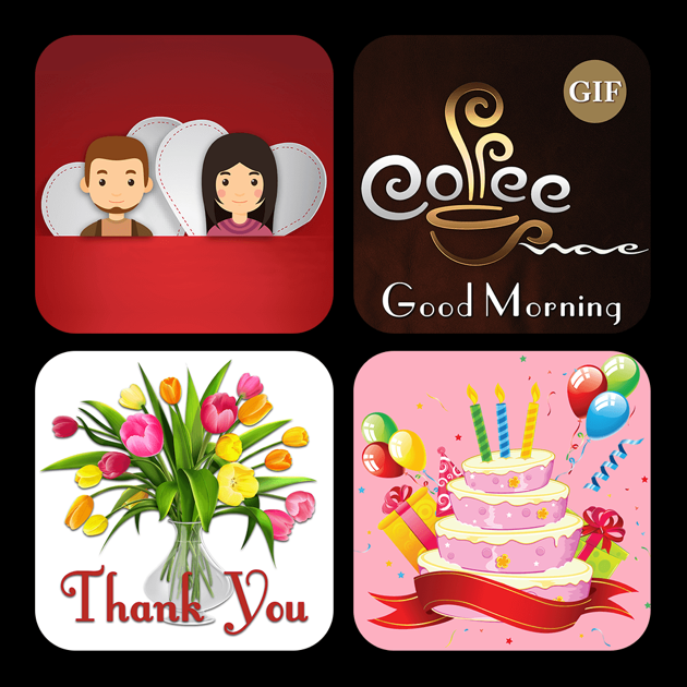‎Animated Daily Wishes Mood GIF Stickers