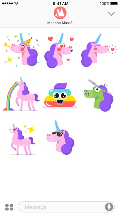 Moncho the Unicorn – Animated Stickers