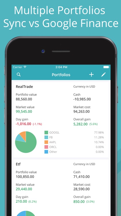 Stock Market: Portfolio Tracker & Screener