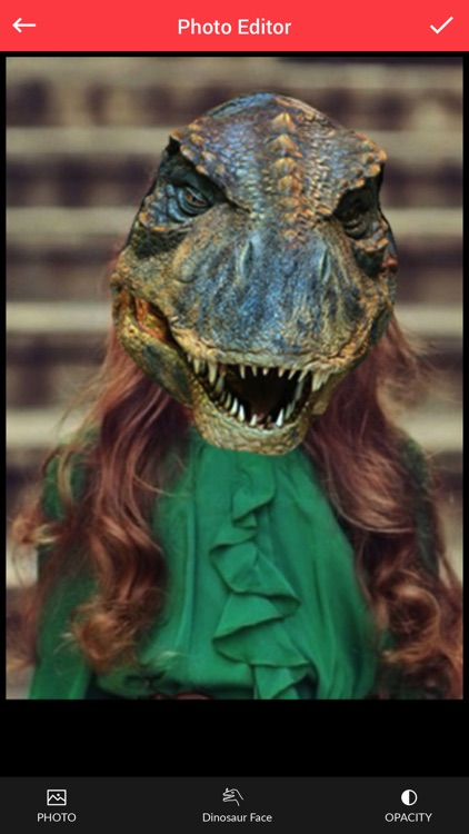 Dinosaur Face Photo Editor - Dinosaur Face Sticker