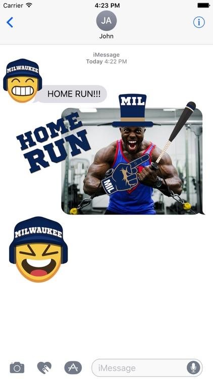 Milwaukee Baseball Stickers & Emojis