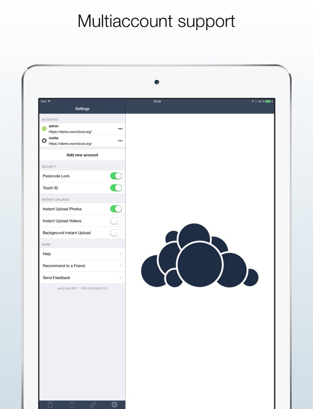 ownCloud Screenshot