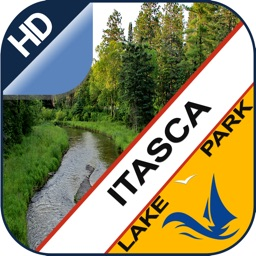 Itasca offline GPS chart for lake and park trails