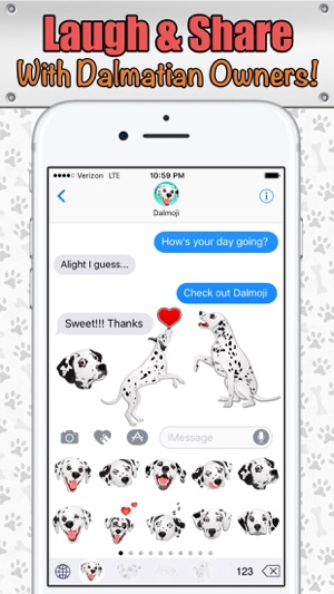 Dalmoji- Dalmatian Emojis and Stickers! Screenshot