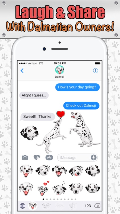 Dalmoji- Dalmatian Emojis and Stickers! screenshot-3